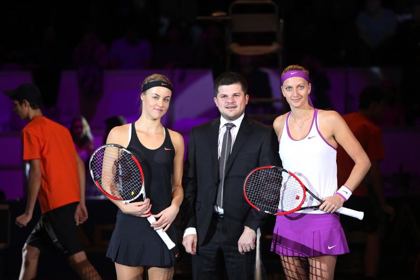 Fotenie tenisovej exhibície Tennis Champions