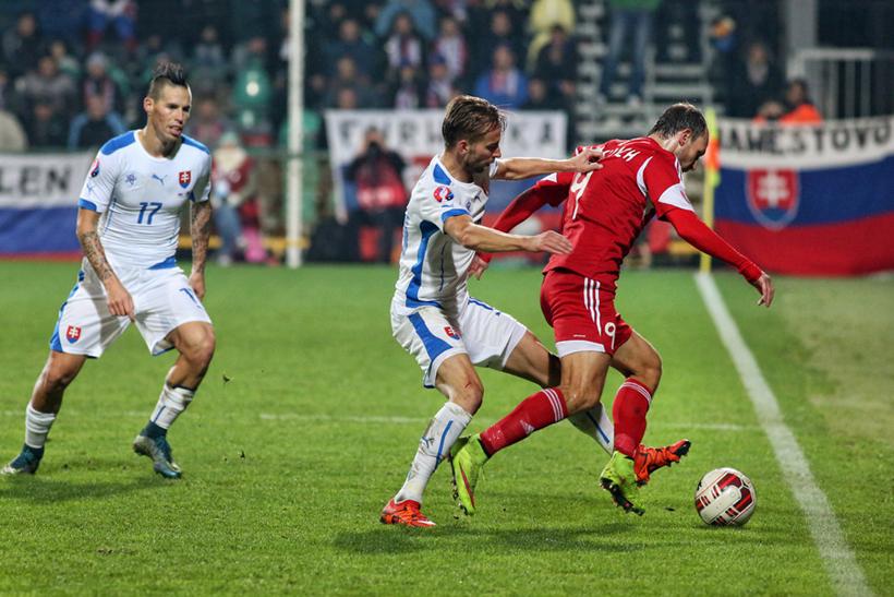 Fotenie futbalu Slovensko - Bielorusko