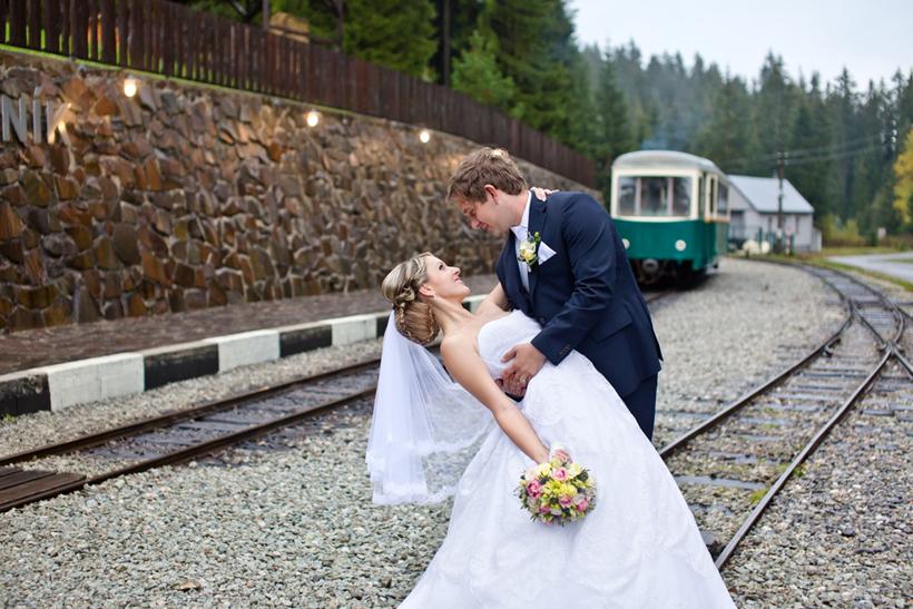 Fotenie svadby Oravska Lesná železnička