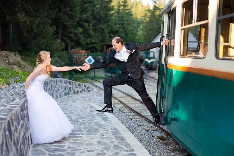 Fotenie svadny pri Oravskej Lesnej železničke