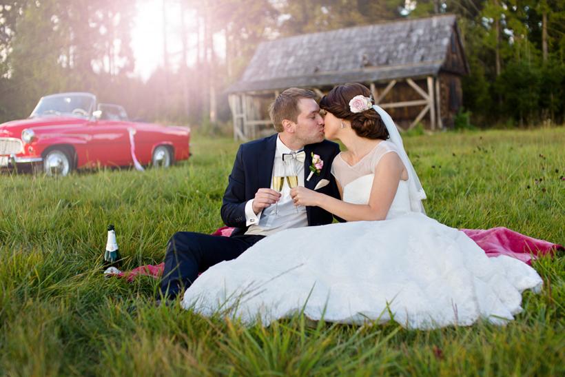 Fotenie svadby Klin retro
